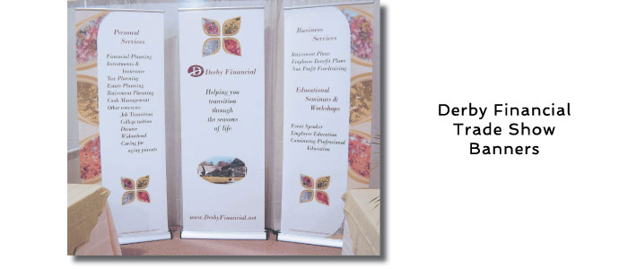 Derby Financial Trade Show Banners