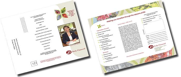 Derby Financial Speaking Engagement Brochure